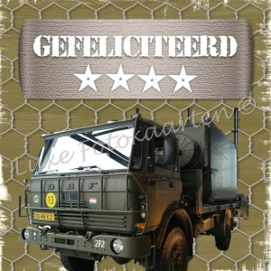 Gefeliciteerd Kind - legertruck