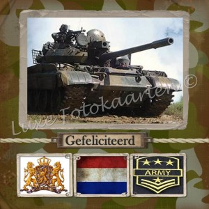 Gefeliciteerd Kind - legertank