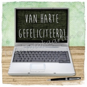Gefeliciteerd Kind - laptop