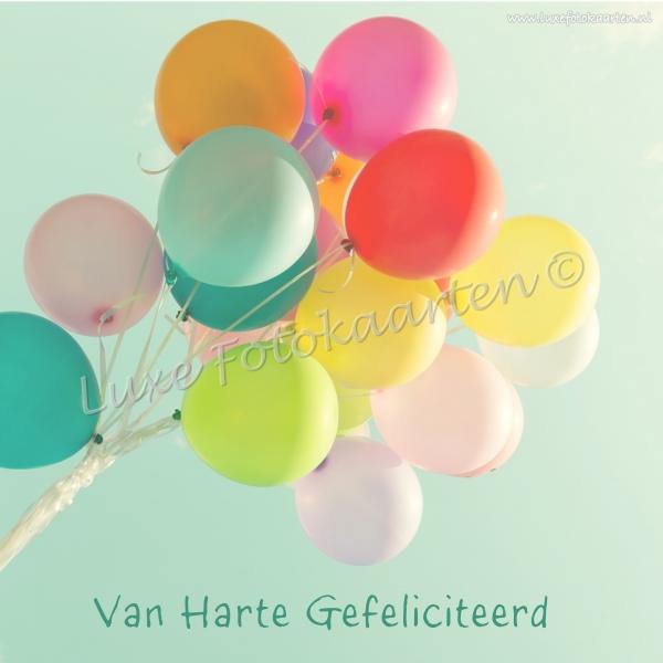 gefeliciteerd kind - bos balonnen